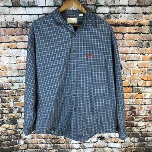 American Eagle Plaid Button Down Long Sleeve Shirt